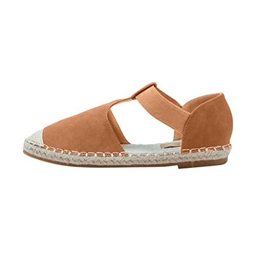 Luckycat Sandalias Mujer Cuña, Verano Plataforma Punta Cerradas Bohemias Zapatos De Tacón Alto Alpargatas De Playa Fiesta Sandalias 2019 Planas Alpargatas Esparto Zapatos Vestir Elegantes Retro