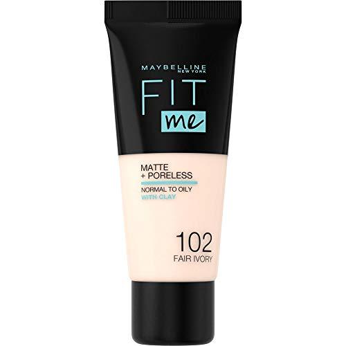 Maybelline Fit Me Matte & Poreless Foundation 102 Fair Elfenbein 30ml