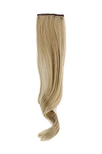 WIG ME UP - Breite Extension mit 2 Clips Strähne Haarverlängerung Haarteil Highlight wellig 45cm / 18inch Gold-Hell-Blond-Mix YZF-P2C18-24BT613
