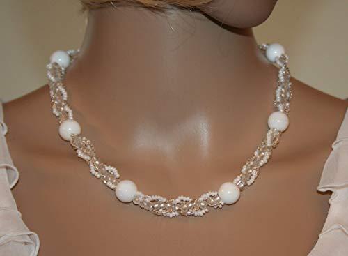 Perlencollier weiß