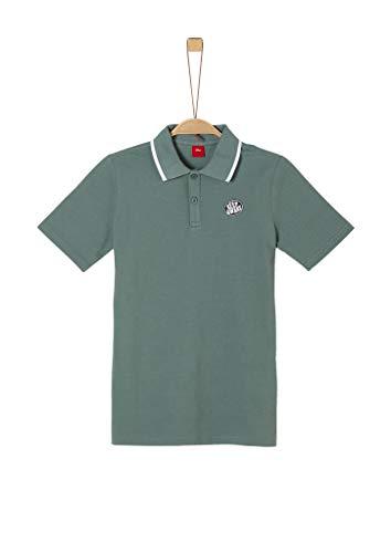 s.Oliver Junior Jungen T-Shirt Kurzarm Polohemd, 6714 Jade Green, L/REG