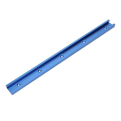 Plantilla de Riel en Inglete de Riel en T, Accesorio de Aluminio Jig de Riel con Ranura en T 800/1000/1220 mm Para Mesa de Enrutador Para Carpintería, Azul(800MM)