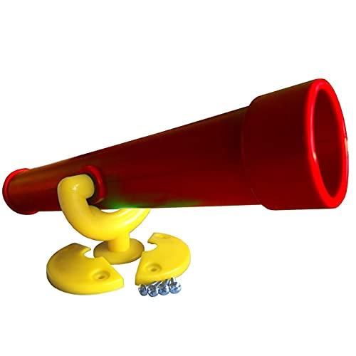 HUIJK Teleskop rot,gelb Fernglas Fernrohr Spielturm Spielanlage Outdoor Kletterturm
