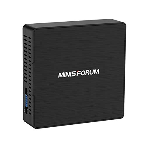 Mini PC Windows 10 Pro Quad-Core Procesador Intel Pentium J3710 (hasta 2,64 GHz), 4G DDR3 / 128GB SSD Gráficos Intel HD 405 HDMI/VGA Pantalla Dual Cooling System 4 Puertos USB BT4.2 WiFi Doble