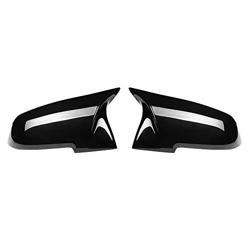 ZLNCJDM Tapa de Cubierta de Espejo, Ajuste para F32 F30 F31 F33 F36 Accesorios para automóviles Brillantes Pareja Negra 2 unids Nuevo Retrovisor Mirror Mirror Página Alas,Glossy Black