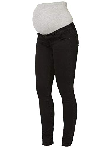 MAMALICIOUS Mama Licious Damen Umstandsjeans Slim Fit 3132Black