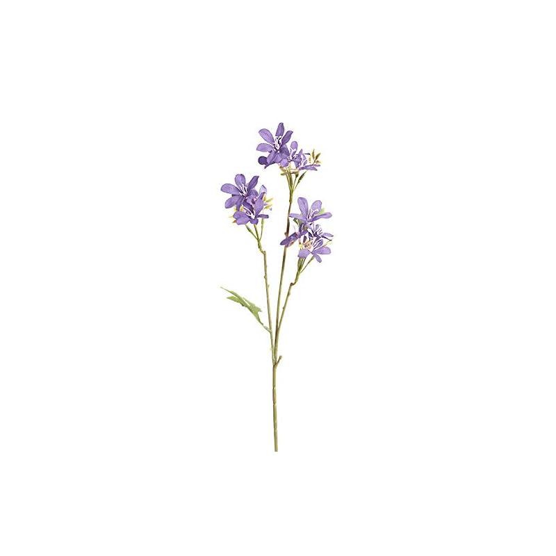 silk flower arrangements oatm0ebcl 1pc artificial flower, cloth faux flower bouquet, fake freesia flower for garden diy stage party home wedding craft decor purple