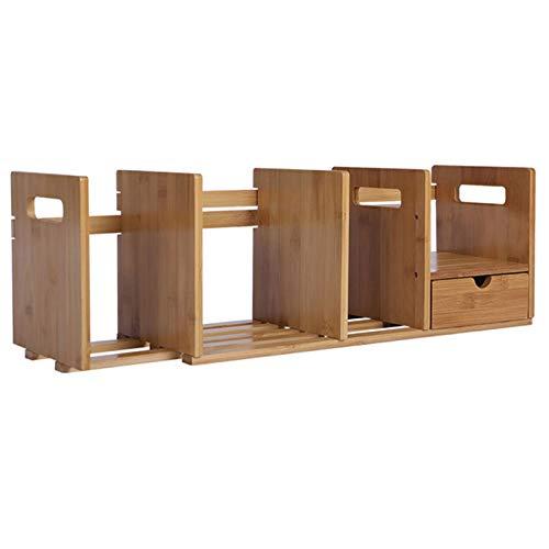 HXXXIN Nanzhu mit Pumpbüro kleine Bücherregal Desktop-Speicher einfache Schreibtisch Bücherregal Student Bücherregal Rack,Double Drawer