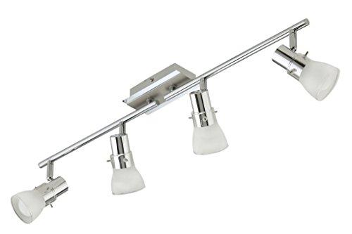 Trango 4-flammig LED Deckenstrahler, Deckenleuchte, Deckenlampe Wohnzimmerleuchte TG1007-48 inkl. 4x LED Leuchtmittel, Strahler schwenk- und drehbar
