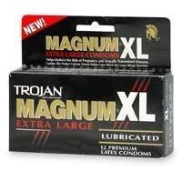 Trojan Magnum Xl, XLarge Preservativos Lubricados 12EaX6Pk