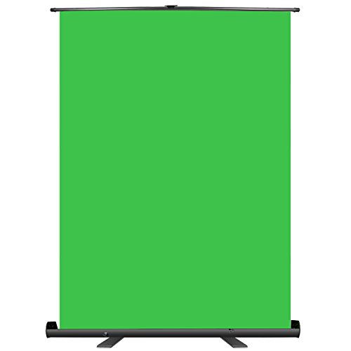 Neewer Green Screen Backdrop, Pull-up Style, 148x180 Centimeters Portable Collapsible Chromakey Background with Auto-Locking Frame, Solid Aluminium Base for Photo Video, Live Game, Virtual Studio