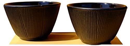 GOTO, foresta di bambù, tazza da tè in ghisa nera, confezione da 2