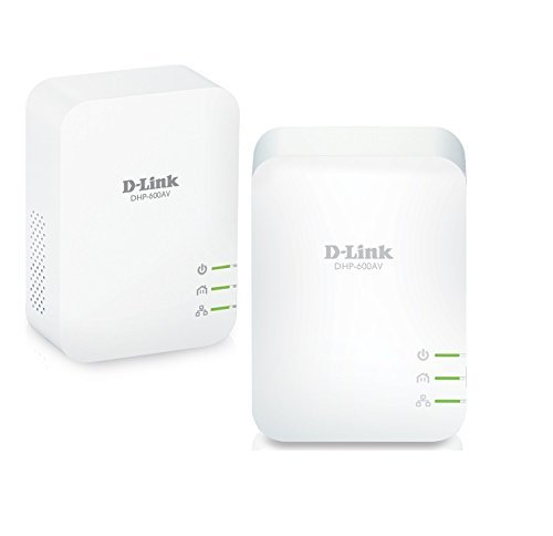 D-Link DHP-601AV (2x DHP-600AV), Kit PLC PowerLine AV2 (1000 Mbps, Ethernet Gigabit, para Vídeo Streaming 4K)