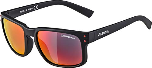 ALPINA Unisex - Erwachsene, KOSMIC Sonnenbrille, black matt, One Size