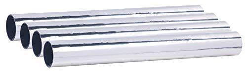 infactory Wärmeschutzfolie Fenster: 4er-Set Selbsthaftende Isolier-Spiegelfolie, Sicht-/UV-Schutz, 40 cm (Spiegelfolie Fenster)