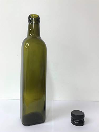 12 Pezzi Bottiglie in Vetro Scuro UVAG Marasca Olio Liquore 500 ml con Tappo