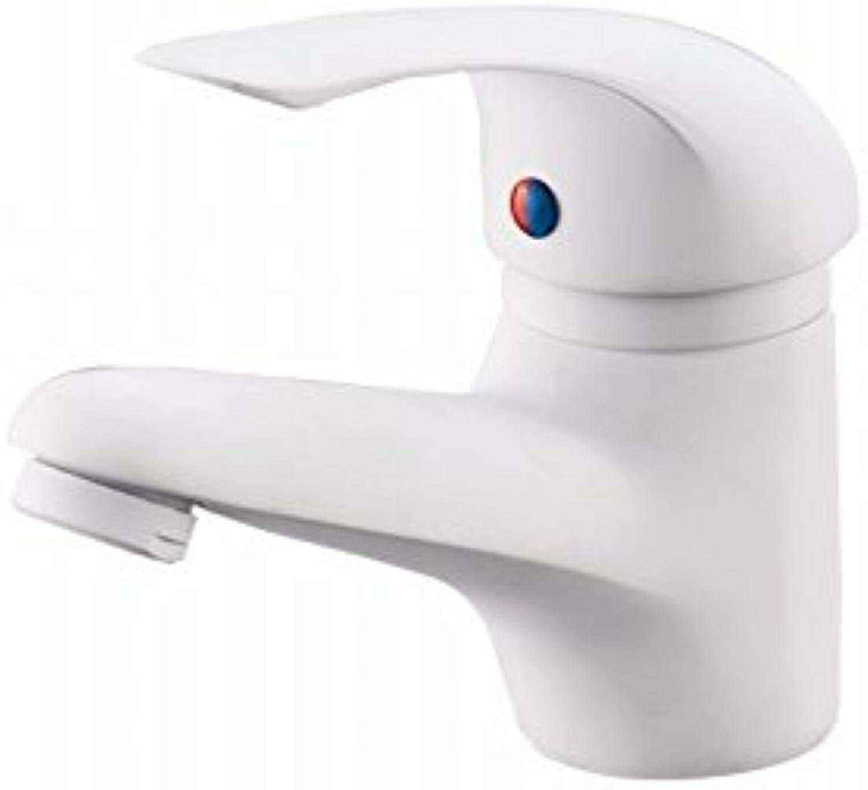 AQMMi Bathroom Vanity Sink Faucet One Holewhite Brass Bathroom Basin Sink Tap Bathroom Faucet
