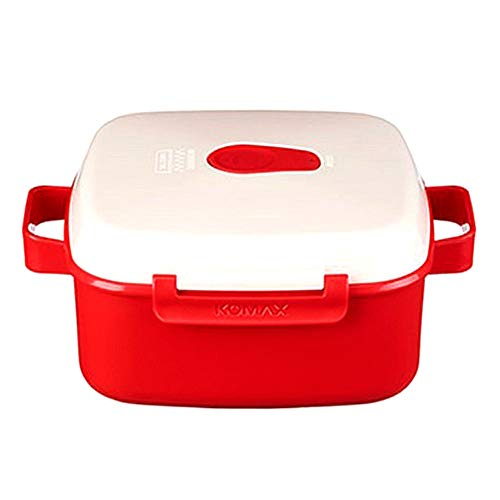Comax BPA Free 41oz Microwave Pot Microwave Collection Noodle Bowl Red (1)