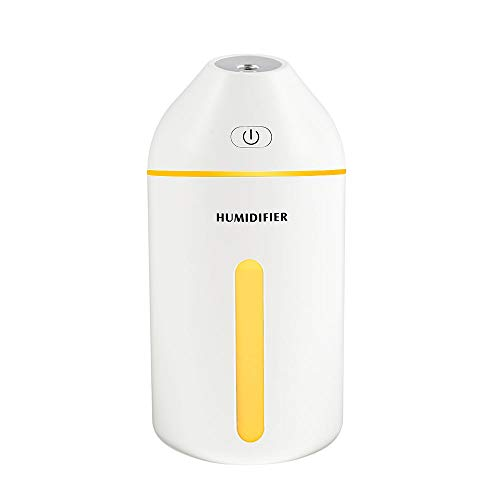 ATopoler 320ml Cool Mist Humidifiers Portable USB Air Diffuser Mini Desk Humidifier with 20 Hours Working Hours 19dB Whisper Quiet 2 Mist Modes for Car Yoga Baby Bedroom Office White