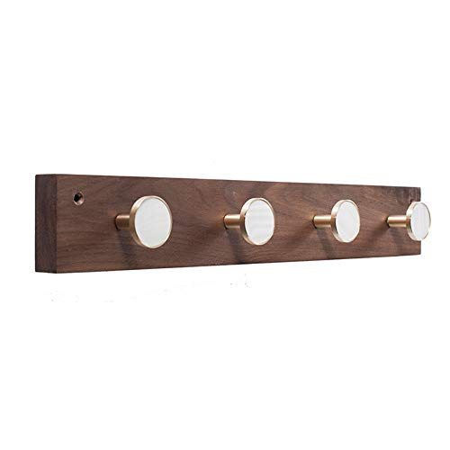messing haak hanger, walnoot muur opknoping log ingang deur massief hout jas Hanger