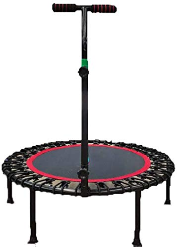 Trampolín de ejercicio con barra de mango, trampolín de fitness para interiores con barandilla ajustable Mini trampolín de ejercicio Rebounder Rebounder (tamaño: 40 pulgadas)