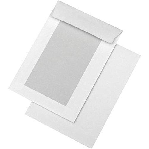 10 Stk. Papprückwandtaschen C5 (162x229 mm) ohne Fenster, weiß, Haftklebung mit Abdeckstreifen