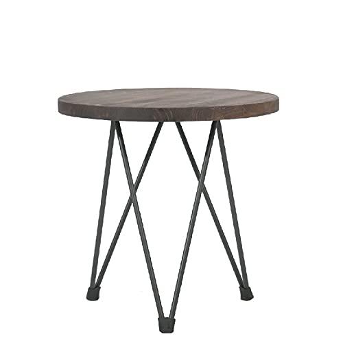 ADDECOR   Tavolino da Salotto   75 cm x 50 cm x 50 cm   Tavolino da caffè Modello Bristol  per Il Salone   Tavolo di Ferro e Legno Leggero   Mobili per Il Salone