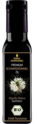 Premium BIO Schwarzkümmelöl - 1. Pressung - 100% kaltgepresst - 100% ägyptisch - 100% ungefiltert und naturrein - 100 ml Lichtschutzflasche aus Miron Violettglas - mühlenfrisch direkt vom Hersteller