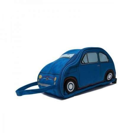 Trousse de Toilette - Maquillage Voiture Fiat 500 Licence Officielle - 3 Coloris - Maxidiscount (Bleu)