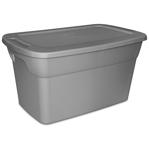 Sterilite 30 Gallon Tote Box- Steel- Case of 6