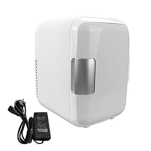 Qagazine Refrigerador portátil de 4 litros para enfriar y calentar bebidas de vino con mango de maquillaje cosmético friger de doble uso para el hogar dormitorio coche
