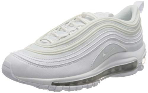 Nike Air MAX 97 (GS), Zapatillas de Atletismo para Niños, Blanco (White/White/Metallic Silver 000), 38 EU