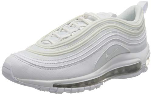 Nike Air Max 97 (GS), Scarpe da Atletica Leggera, Bianco (White/White/Metallic Silver 000), 38 EU