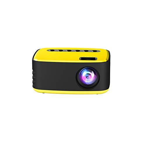 HSD T20 Mini tragbare Tasche Heimkino-Projektor 3D HD 1080P LED Kino AV USB Beamer,Mini Beamer Support 1080P Full HD Video Beamer- 114 * 91 * 51 mm (B)