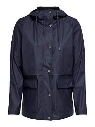 Only ONLTRAIN Raincoat OTW Chaqueta, azul oscuro, S para Mujer