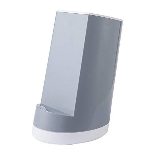 Beautymei Messeraufbewahrung Rack,Einfache Multifunktionale Küche Messeraufbewahrung Rack für Küche Gebrauch grau