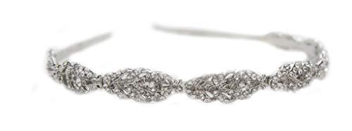 Unbekannt Details zu Tiara Haarschmuck Silber Gold Rosegold Diadem Krone Perlen Strass Haarreifen Braut Hochzeit Reifen (Gold)