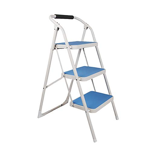 Gjrff Folding Extension Ladder - Blu Casa Antiscivolo Scala Pieghevole Passo Sedie Sgabello For Adulti Sedie Pieghevoli Portatile Poggiapiedi Scaletta Magazzinaggio Fiore Rack (Colore: 4 Livelli