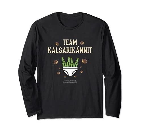 Kalsarikännit für Biertrinker Suomi Team Kalsarikännit Langarmshirt