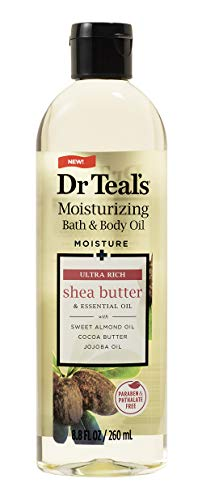 Dr. Teal's Moisture + Ultra Rich Shea Butter & Essential Oil Moisturizing Bath & Body Oil 8.8oz