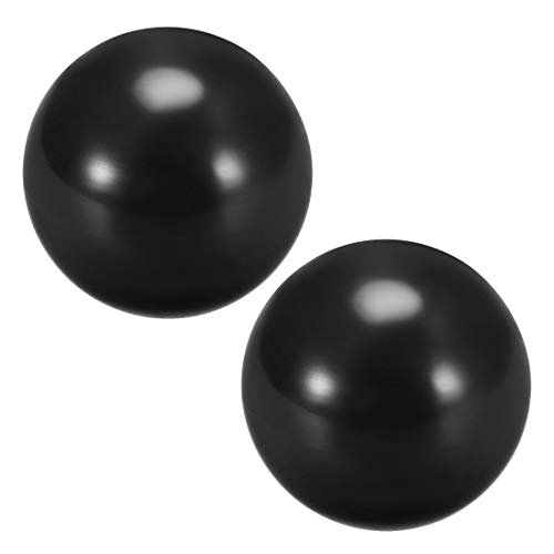 uxcell Joystick Ball Top Handle Rocker Round Head Arcade Fighting Game DIY Parts Replacement Black 2Pcs