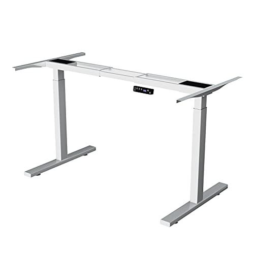 DCHOUSE Escritorio de altura regulable eléctrico, estructura de mesa regulable sin niveles,...