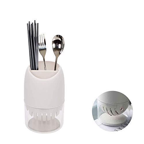 Herramientas Tendedero Soporte para Palillos de plástico Soporte para Utensilios de Cocina Contenedor para lavavajillas Organizador de vajilla Cesta de Drenaje para Palillos Cuchara Tenedor Pajitas