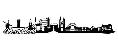 Samunshi® Oberhausen Skyline Wandtattoo Sticker Aufkleber Wandaufkleber City Gedruckt Oberhausen 120x20cm schwarz