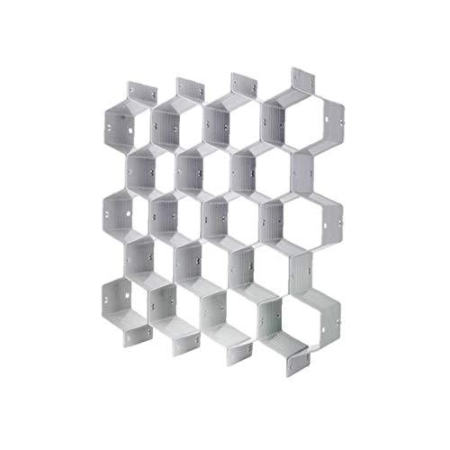 Partición de panal de nido de abeja Organizador de cajones de bricolaje organizador del armario del cajón del gabinete de plástico divisores tablilla Cajas de almacenamiento para la ropa interior