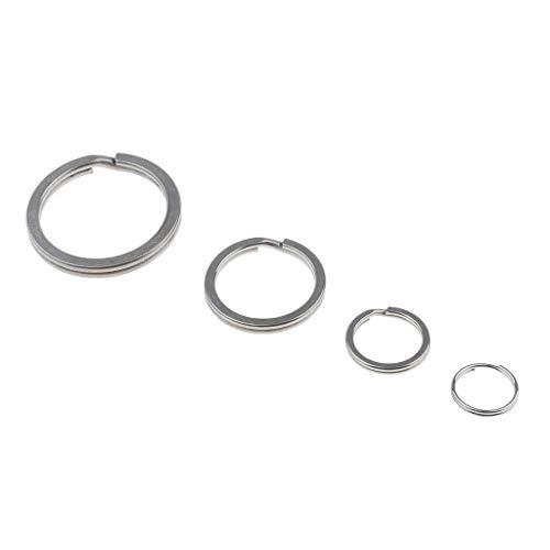 SM SunniMix Llavero de Titanio Dividido para Conectar Collares, Etiquetas, Llaves, Pendientes, Joyas Y Artículos Pequeños (Paquete de 4) - Plata