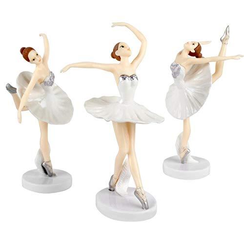 ERFHJ Leuke sieraden ballerina meisje decoreren bruiloft taart topper bruid en bruidegom partij benodigdheden liefde gift