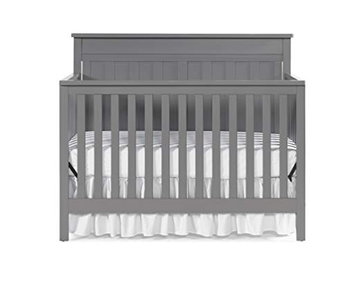 Fisher-Price Baldwin 4-in-1 Convertible Crib, Fog Grey