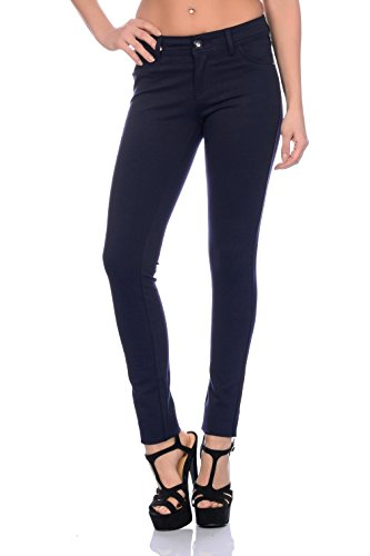 Modische Damen Jeggings Leggings Hüfthose Stretch Slimfit (XL, Dunkelblau),Etikettgröße:42