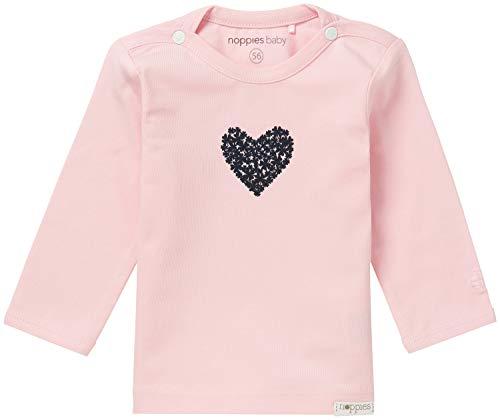Noppies Baby Mädchen Tee Natick Langarmshirt, Light Rose, 68 EU